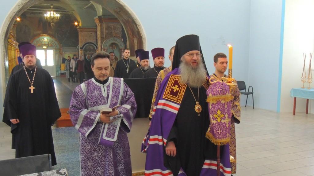 Божественная литургия Преждеосвященных Даров. (Епископ Елисей. 5-я годовщина архиерейской хиротонии.)