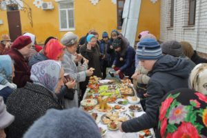 Выставка постных блюд при храме Рождества Христова