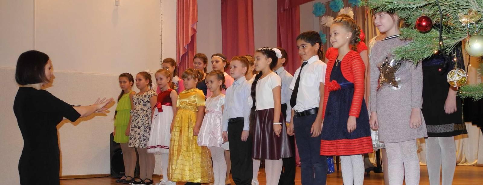 Рождественский концерт в детской школе искусств г. Урюпинска.