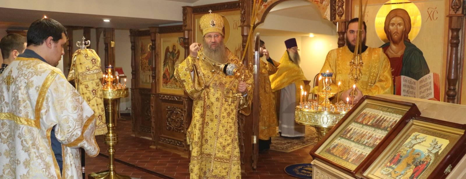 Божественная литургия в храме Феофана Затворника г. Новоаннинского.