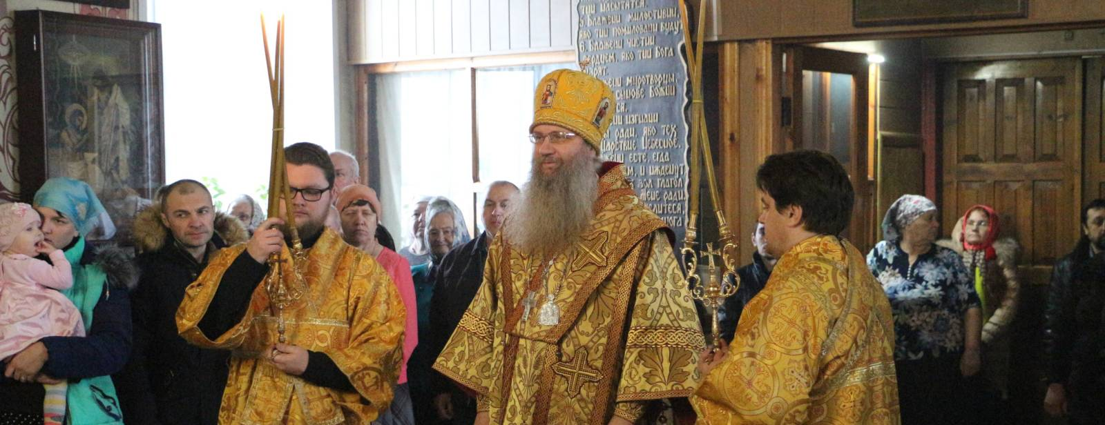 Божественная Литургия в храме Митрофана епископа Воронежского села Себрово.