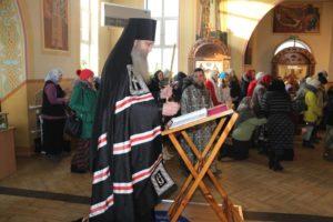 Служение Епископа Елисея в четверг 1-й седмицы Великого Поста.