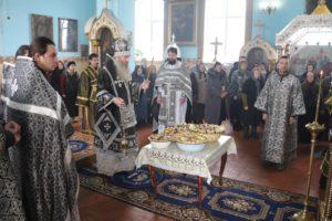 Служение Епископа Елисея в пятницу 1-й седмицы Великого Поста