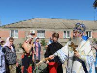 Служение епископа Елисея в день празднования Августовской иконы Божией Матери.