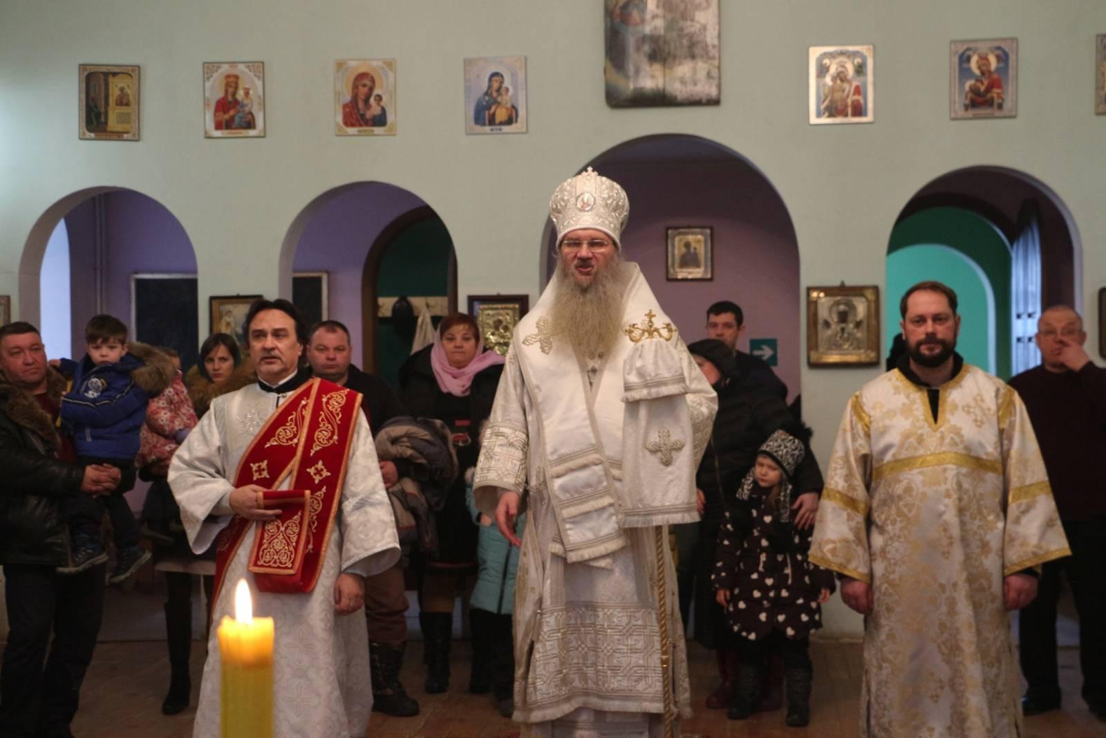 Служение епископа Елисея в праздник Богоявления.