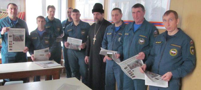 Священник поздравил силовиков