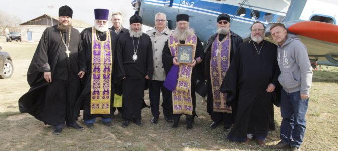 Воздушный крестный ход над Волгоградом
